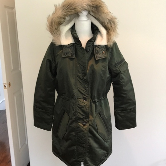 Green Hooded Parka